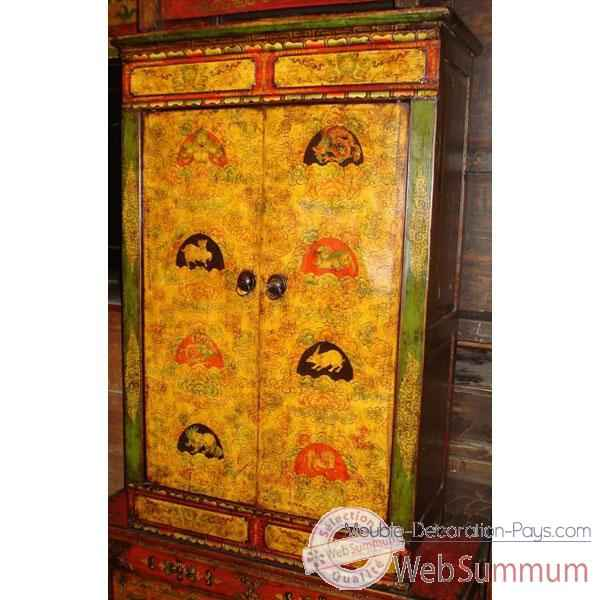 Armoirette 2 portes tibetain style chine c0605 photos for Meuble chine design