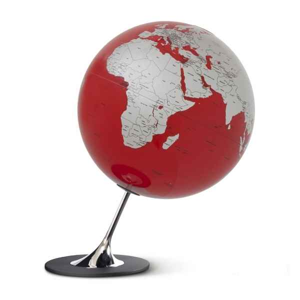 Globe non lumineux en anglais anglo rouge