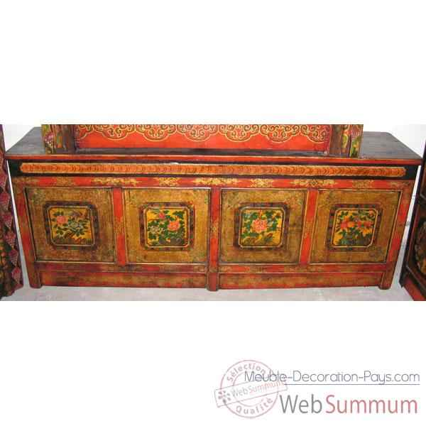 Buffet bas 4 portes tibetain style Chine -C0377