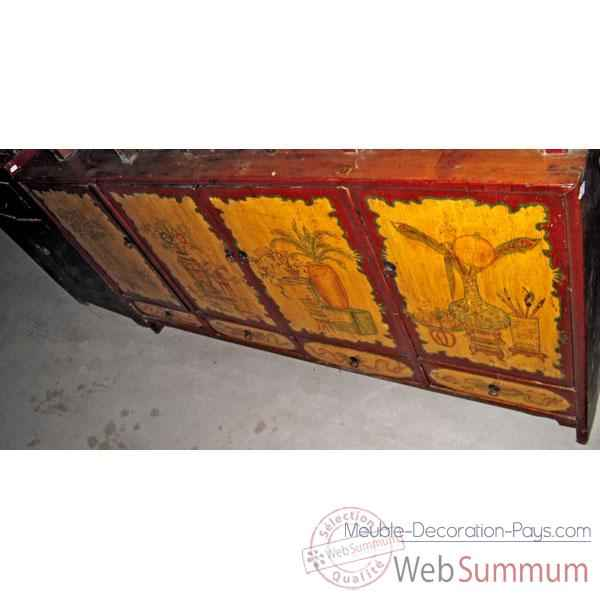 Buffet polychrome pin style Chine -C3007
