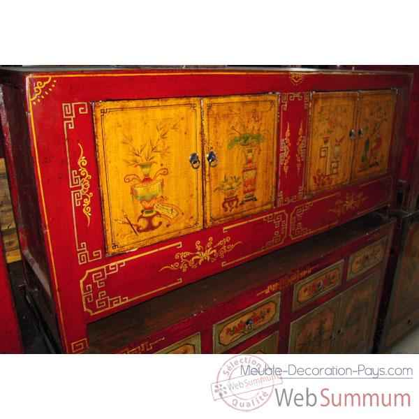 Buffet mongol 4 portes style Chine -C3011