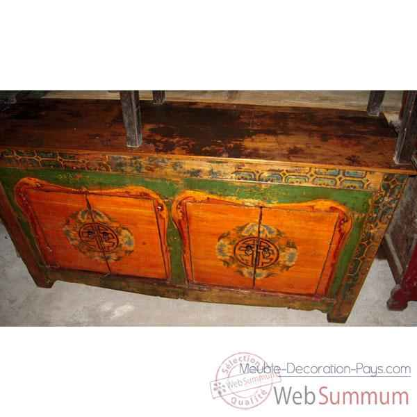 Buffet mongol 4 portes style Chine -C3018