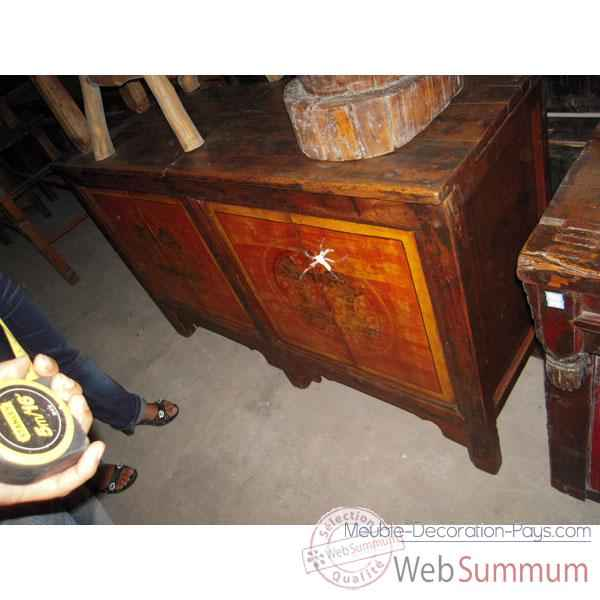 Buffet mongol 4 portes style Chine -C3019