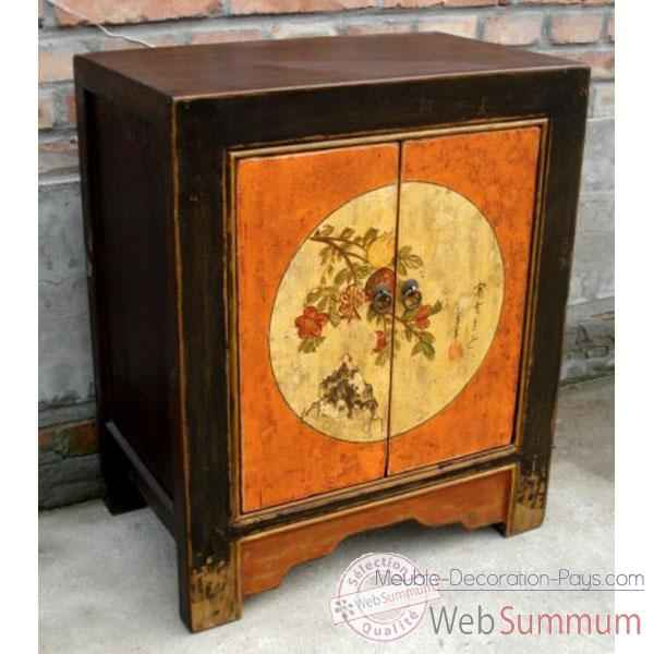 buffet 2 portes mongol polychrome style chine c0906 dans buffet de meuble chinois. Black Bedroom Furniture Sets. Home Design Ideas