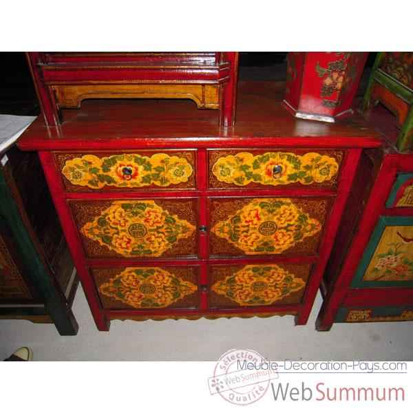 Buffet 4 portes et 2 tiroirs tibetain style Chine -C3009