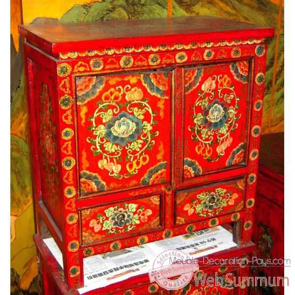 Buffet 2 portes et 2 tiroirs tibet style chine c0938 dans for Meuble chine design
