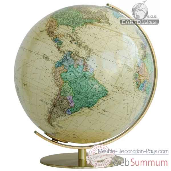 Globe lumineux colombus diam 40 antique royal co224071