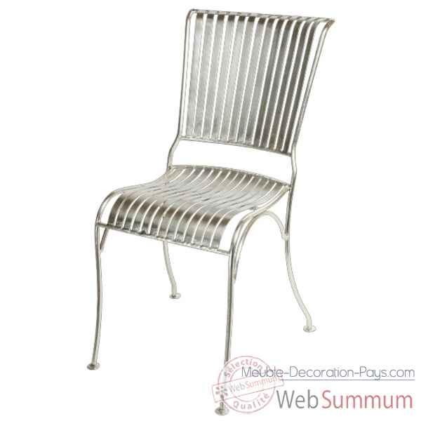 chaise m tal blanc hindigo jf16whi dans meuble indien sur meuble decoration pays. Black Bedroom Furniture Sets. Home Design Ideas