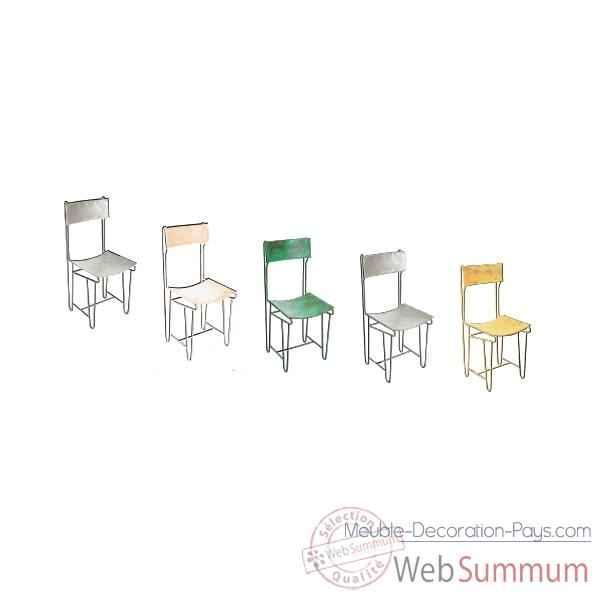 chaise m tal patine rouille hindigo jc83aci dans meuble indien. Black Bedroom Furniture Sets. Home Design Ideas