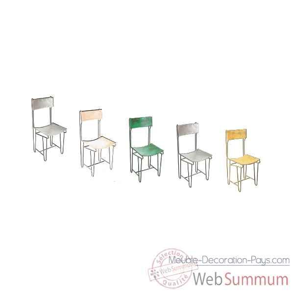 chaise m tal rouge ancien hindigo jc83olred dans meuble indien. Black Bedroom Furniture Sets. Home Design Ideas
