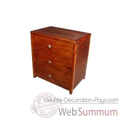 chiffonnier stri avec 3 tiroirs meuble d 39 indon sie 53948. Black Bedroom Furniture Sets. Home Design Ideas