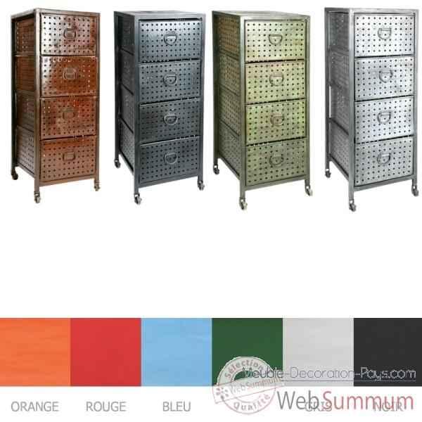 colonne 4 tiroirs vert ancien hindigo 6oldgreen dans meubles indiens. Black Bedroom Furniture Sets. Home Design Ideas