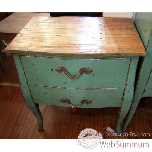 commode 2 tiroirs bleu turquoise plateau style chine c2307bl dans console et commode. Black Bedroom Furniture Sets. Home Design Ideas
