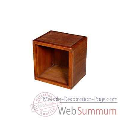 Cube vide strie Meuble d'Indonesie -53958