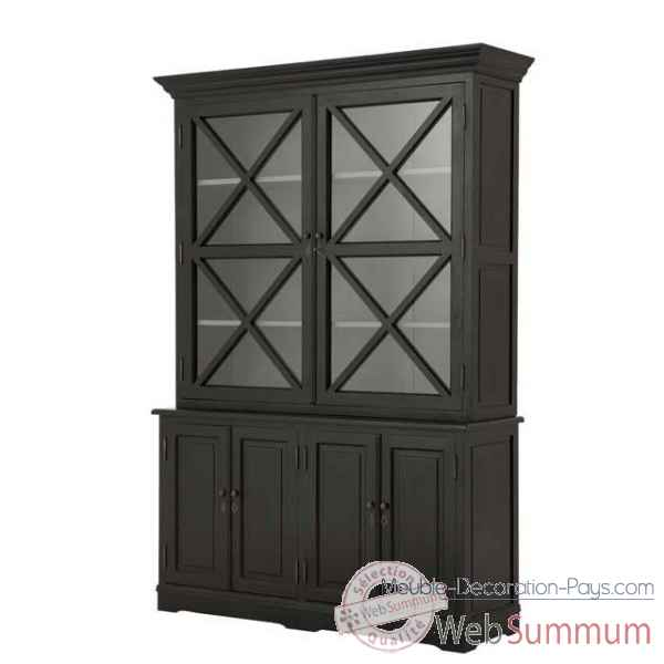 Eichholtz cabinet cross finition noir -cab01600