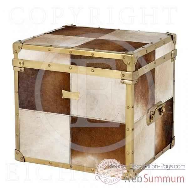 Eichholtz caisse blanc marron marron et blanc et cuivre de meuble design holl - Meuble hollandais design ...
