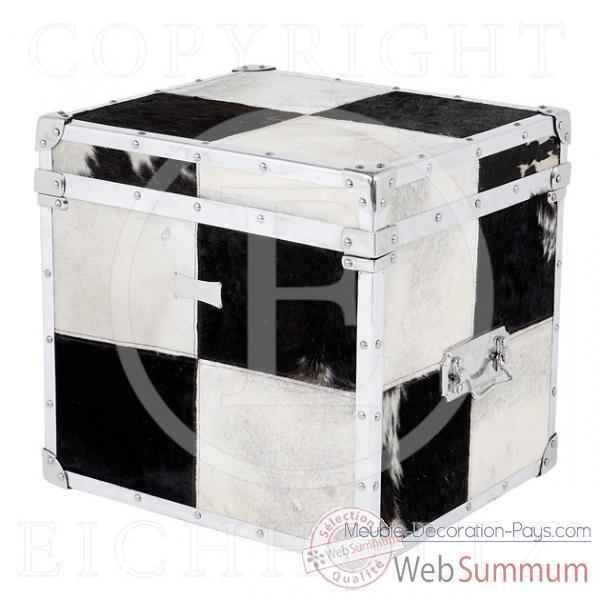 eichholtz caisse blanc noir noir et blanc et nickel de meuble design hollandais. Black Bedroom Furniture Sets. Home Design Ideas