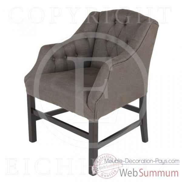 Eichholtz fauteuil columbus lin gris chr05457 de meuble for Meuble columbus