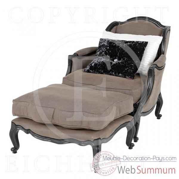 Eichholtz fauteuil columbus lin gris chr sur meuble for Meuble columbus