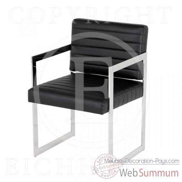 Eichholtz fauteuil office aspen noir et nickel chr05223 dans fauteuil cana - Meuble hollandais design ...
