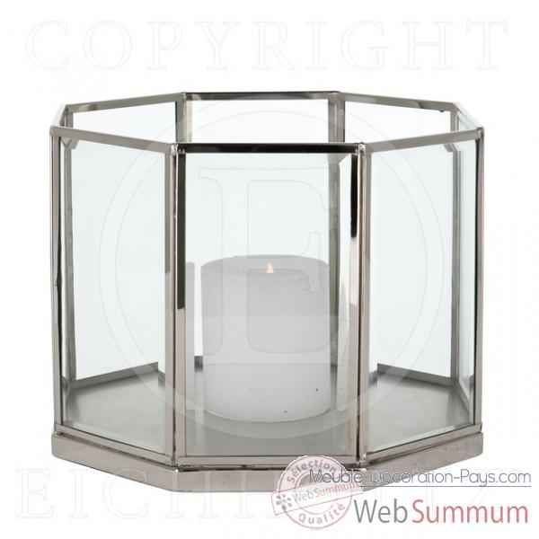 Eichholtz lanterne octagonal nickel brillant acc05816 de meuble design holla - Meuble hollandais design ...