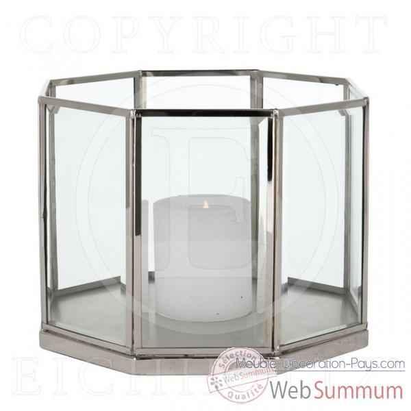 Eichholtz lanterne octagonal nickel brillant acc05816 de meuble design holla - Meuble hollandais design ...
