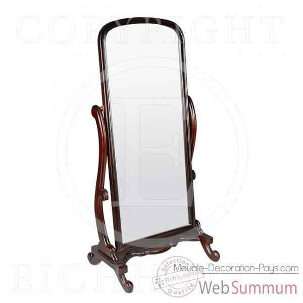 Eichholtz miroir tumble cheval acajou dans miroir sur for Miroir acajou