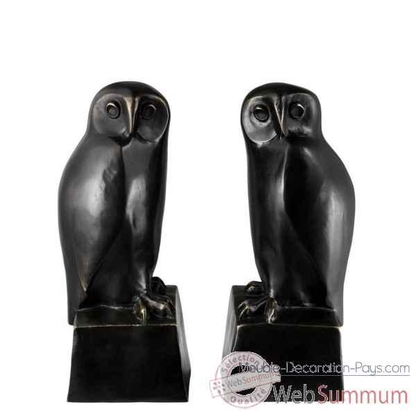 free serrelivres owl set de eichholtz with serre maison du monde. Black Bedroom Furniture Sets. Home Design Ideas