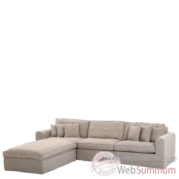 Eichholtz sofa corner miami blanc cass chr06368 de meuble design hollandais - Meuble hollandais design ...