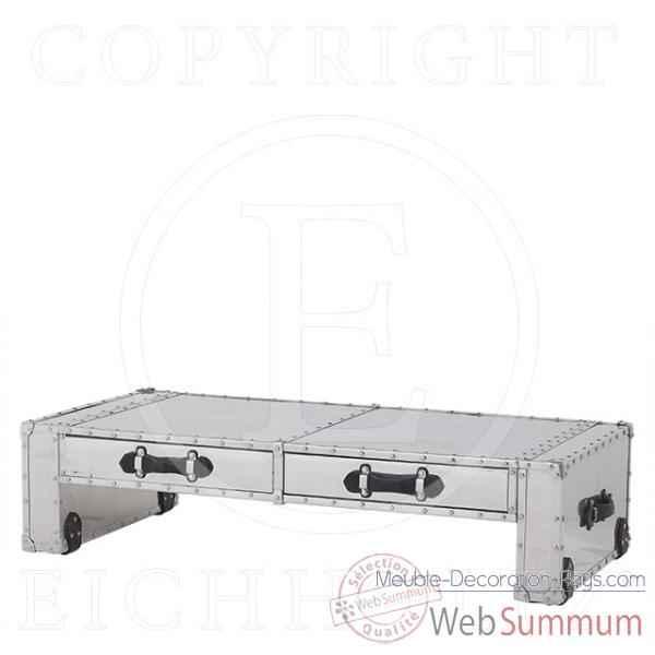 eichholtz table basse catalina aluminium tbl05956 de meuble design hollandais. Black Bedroom Furniture Sets. Home Design Ideas