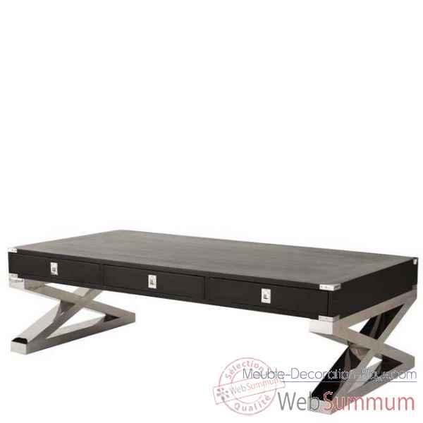 Eichholtz table basse montana nickel et noir tbl06455 de meuble design holla - Meuble hollandais design ...