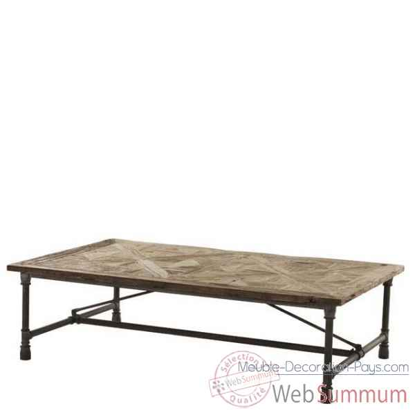 Eichholtz table basse parquette vieil orme tbl06307 de meuble design hollandais - Meuble hollandais design ...