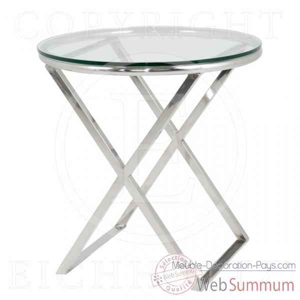 eichholtz table beaulieu acier inoxydable avec verre de. Black Bedroom Furniture Sets. Home Design Ideas