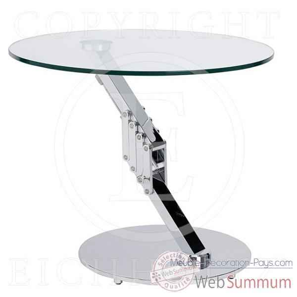 Eichholtz table clifton round nickel -tbl05986
