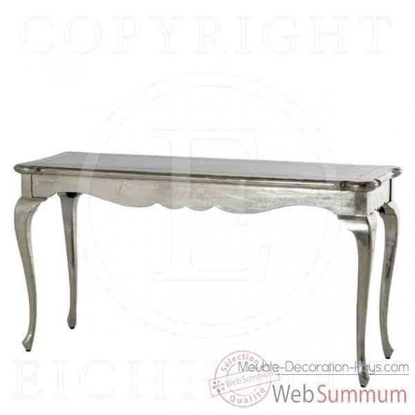 eichholtz table console bonaparte argent tbl05602 de meuble design hollandais. Black Bedroom Furniture Sets. Home Design Ideas