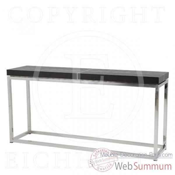 eichholtz table console magnum acier inoxydable avec placage dans table bureau. Black Bedroom Furniture Sets. Home Design Ideas