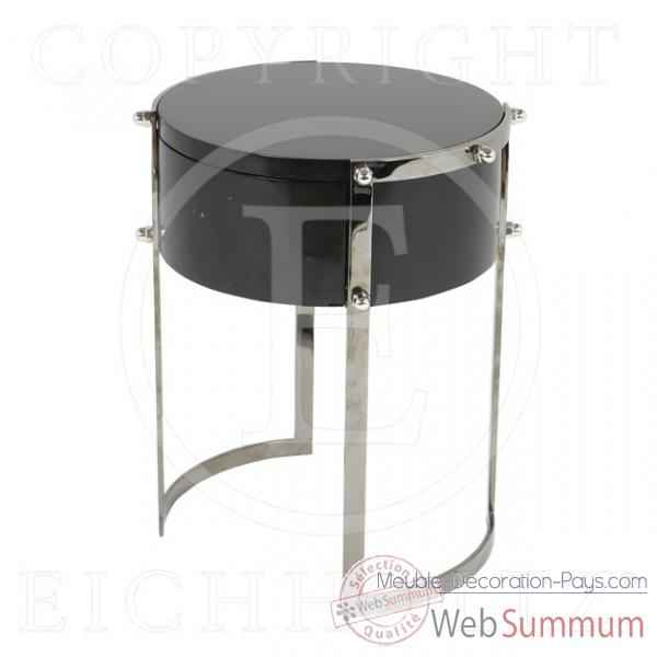 Eichholtz table phoenix industrial aluminium et verre de meuble design hollan - Meuble hollandais design ...