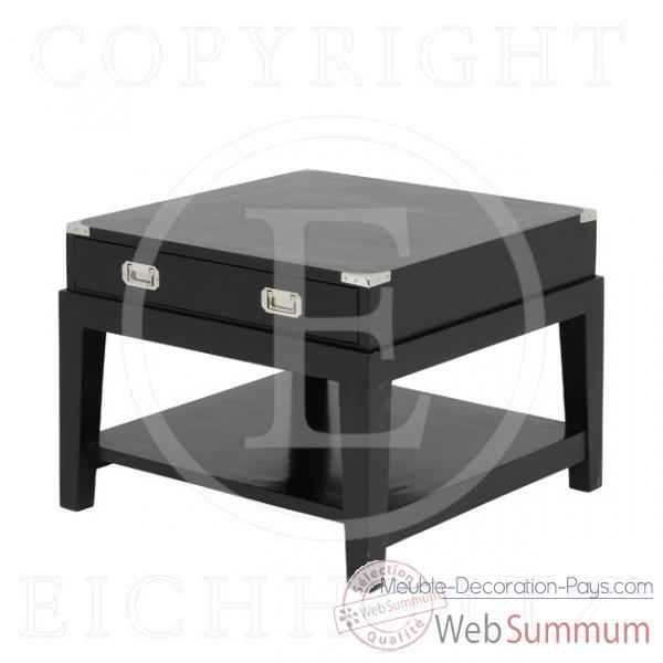 Eichholtz table d 39 appoint military finition noir de meuble design hollandais - Meuble hollandais design ...
