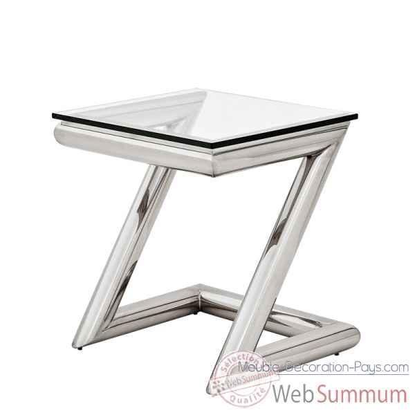 Table de repas pied fer forge plateau style chine for Table de chevet en fer forge