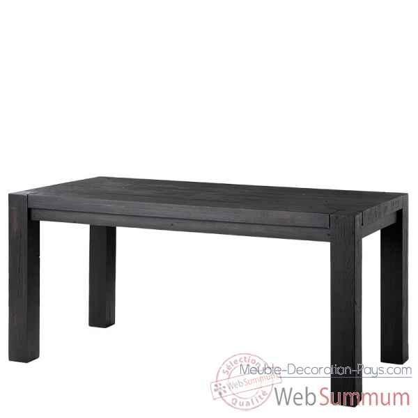 Table harbour club noire 160 cm eichholtz tbl07396 de meuble design hollandais - Meuble hollandais design ...