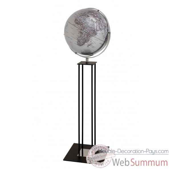 Globe sur pied worldtrophy argent night emform -se-0914