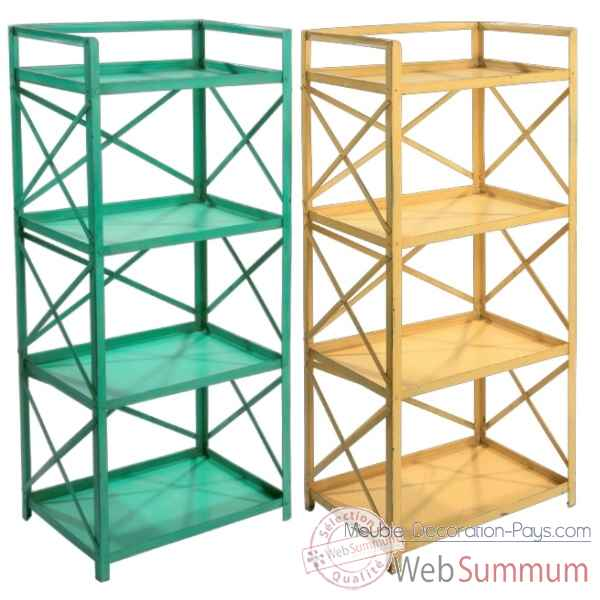 Etagere Metal 4 tables jaune Hindigo -JC71YEL