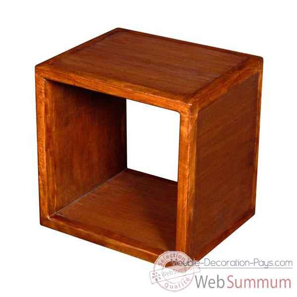 Etagere 1 casier strie Meuble d'Indonesie -53962