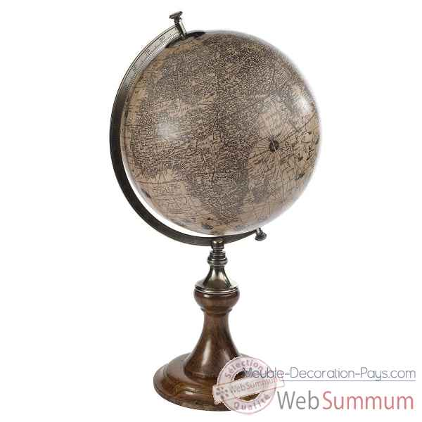 Video Globe Terrestre Hondius 1627 Support Classique -amfgl003d