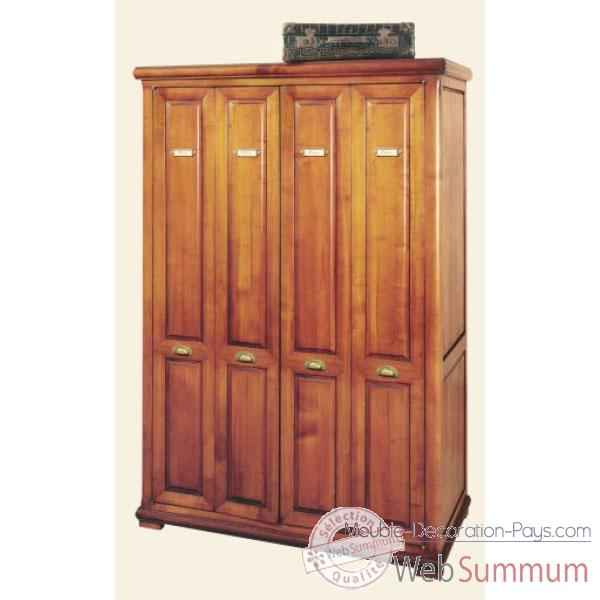 Video Armoire penderie avec portes accordeon, epoque fin 19eme, sans patine - 114 x 173 x 57 cm - LI-133PE