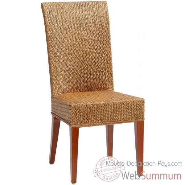 chaise jos phine rotin loom sans coussin kok dans loom indoor de meuble louisiane. Black Bedroom Furniture Sets. Home Design Ideas