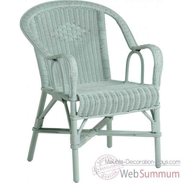 fauteuil grand p re bleu celadon kok 978cb de meuble louisiane. Black Bedroom Furniture Sets. Home Design Ideas
