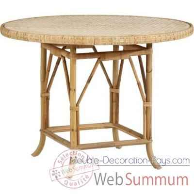 Table ronde diam 100 Grand Pere sans filets de couleurs - naturel KOK 825/1