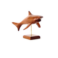 Video Lasterne - Les miniatures sur socle - Le requin en chasse - 30 cm Last-ARE030S-R