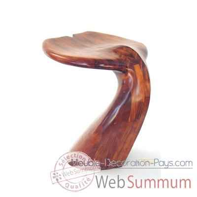 Tabouret de table - Queue de baleine en Pin - Hauteur 50 cm - LAST-MQU050-P